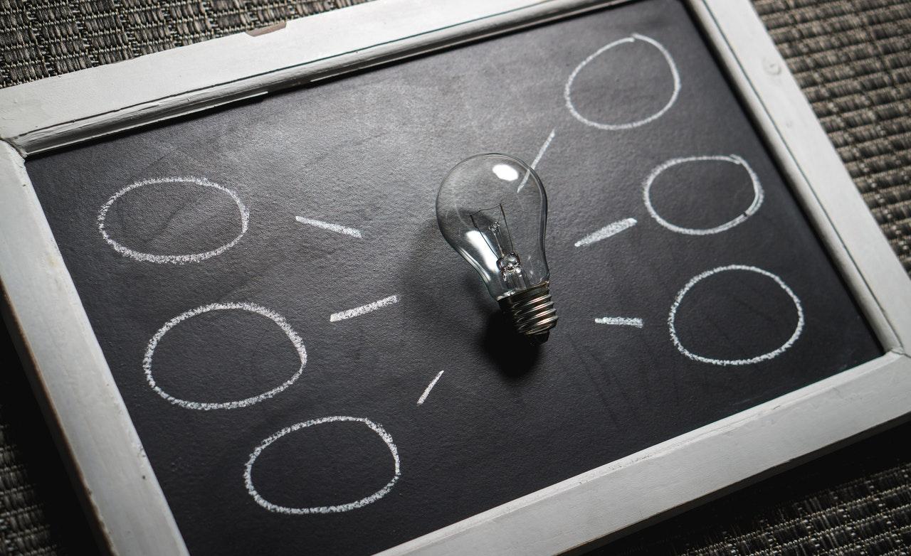 Lightbulb on blackboard - Jean-Francois de Clermont-Tonnerre