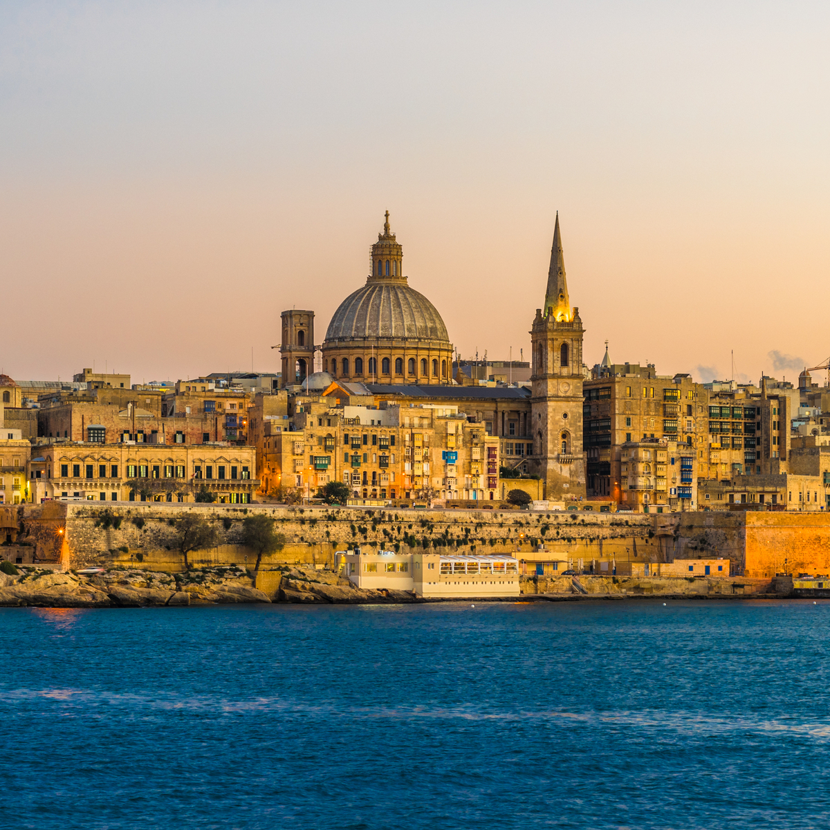 Sunset view of Valletta, the capital of Malta - Jean-Francois de ClermontTonnerre